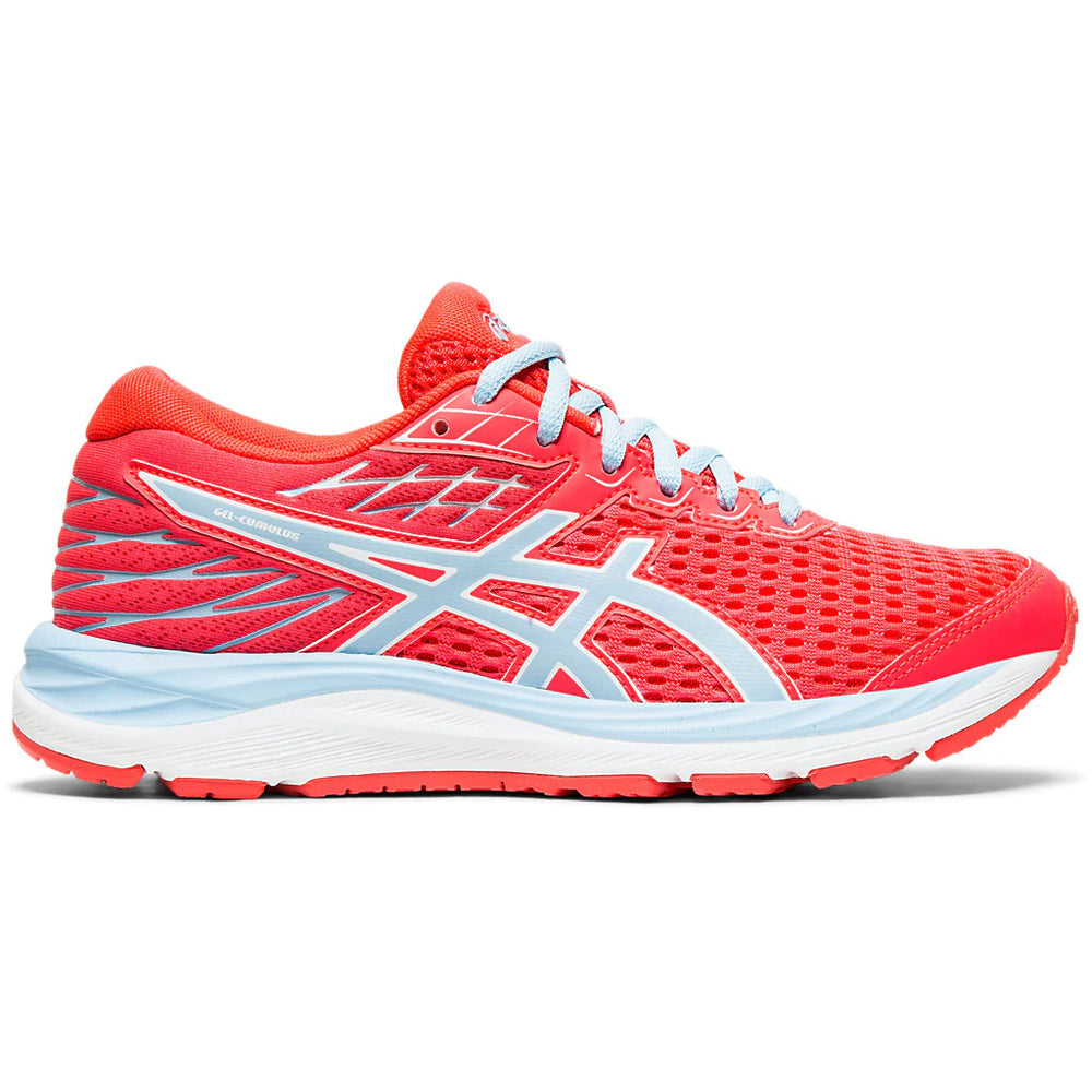 Asics Kids Cumulus 21 Running Shoes Laser Pink / Heritage Blue