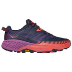 Hoka Women's Speedgoat 4 Trail Running Shoes Outer Space / Hot Coral
