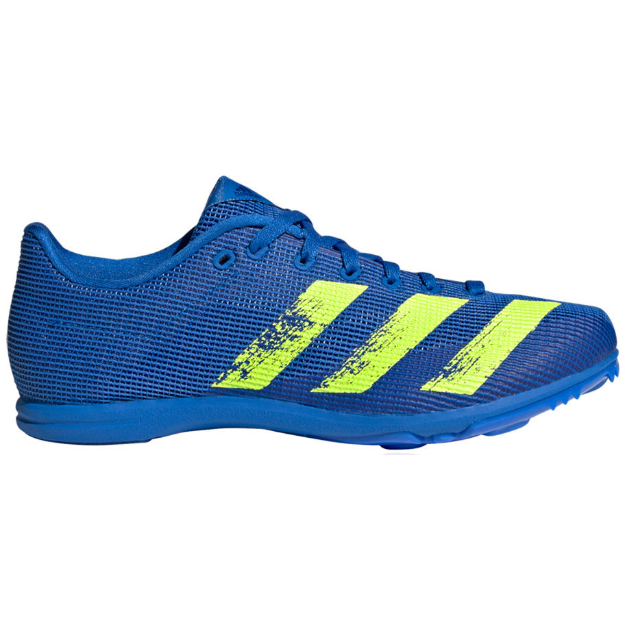 adidas Allroundstar J Running Spikes Football Blue / Solar Yellow - achilles heel