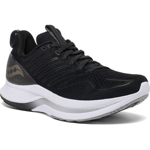 Saucony Men's Endorphin Shift Running Shoes Black / White - achilles heel