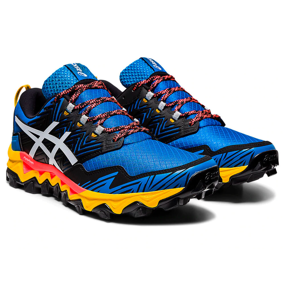 Asics Men's Gel-FujiTrabuco 8 Trail Running Shoes Directoire Blue / White - achilles heel