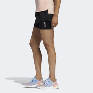 adidas Women's Adapt 3 Inch Short Black - achilles heel