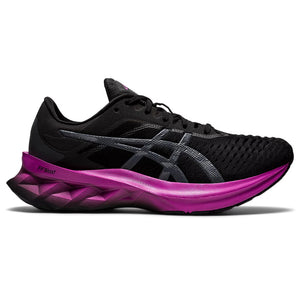 Asics Women's Novablast Running Shoes Black / Digital Grape - achilles heel