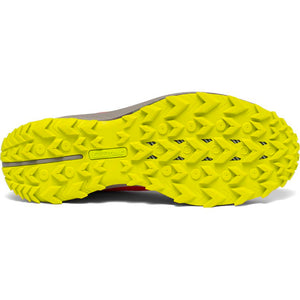 Saucony Men's Peregrine 10 Trail Running Shoes Vizred / Citron - achilles heel
