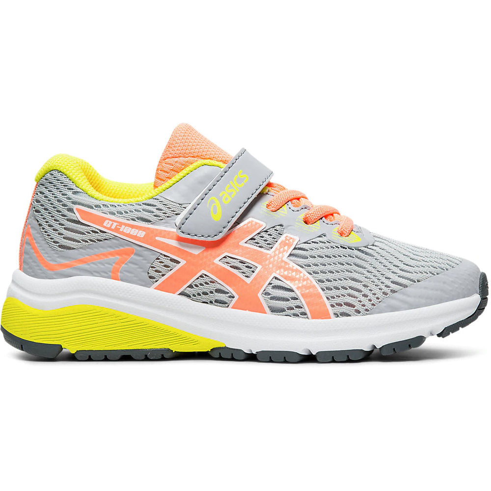 Asics Kids GT 1000 8 PS Running Shoes Piedmont Grey / Sun  Coral