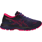 Asics Women's Gel-Cumulus 19 GORE-TEX Running Shoes Indigo Blue / Black / Cosmo Pink - achilles heel