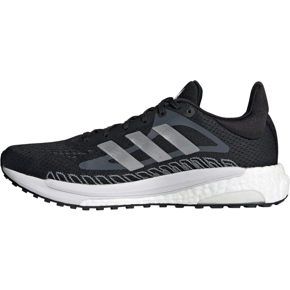 adidas Men's Solar Glide 3 Running Shoes Core Black / Blue Oxide / Dash Grey - achilles heel