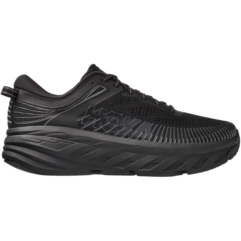 Hoka Women's Bondi 7 Running Shoes Black / Black - achilles heel