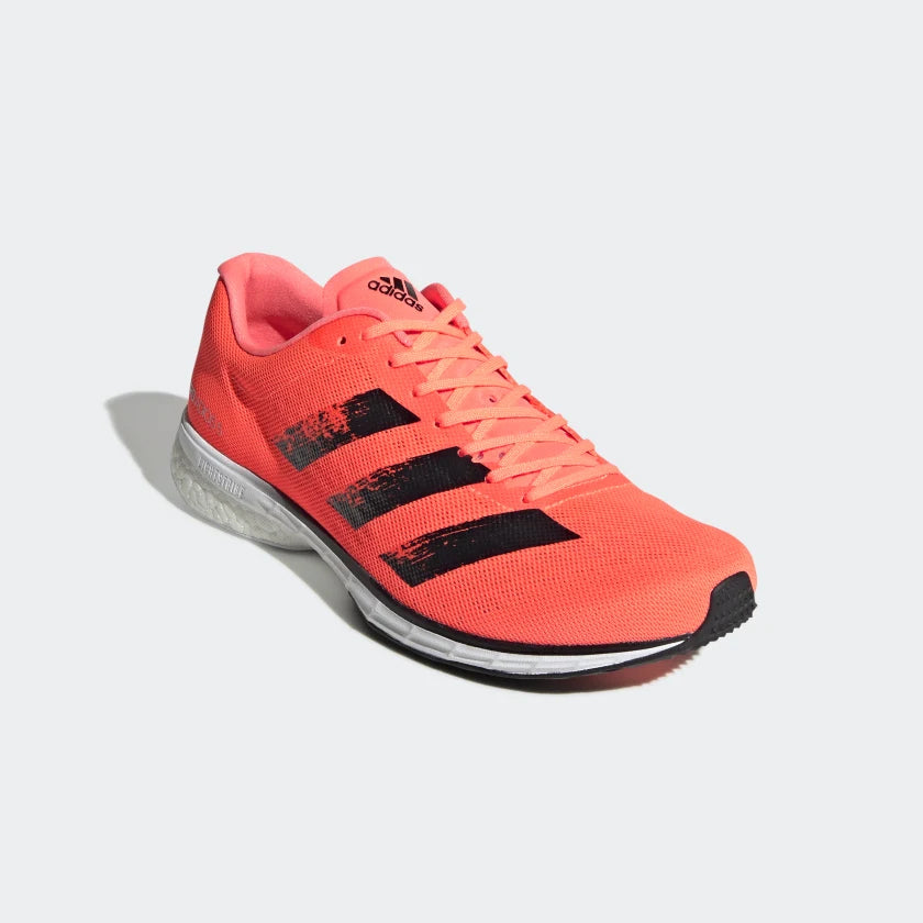 adidas Men's adiZero Adios 5 Running Shoes Coral / Black - achilles heel