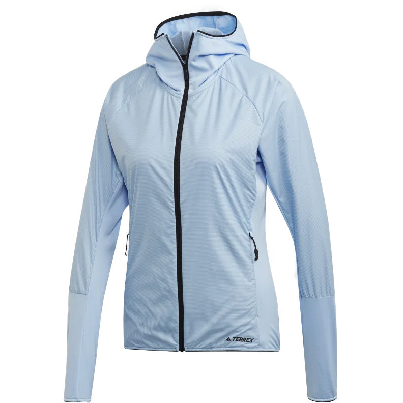adidas Women's Terrex SkyClimb Fleece Jacket Glow Blue