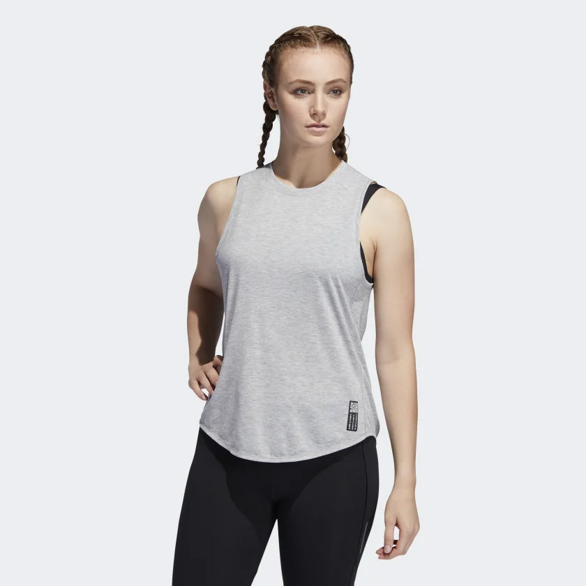 adidas Women's Adapt Tank Grey Heather - achilles heel
