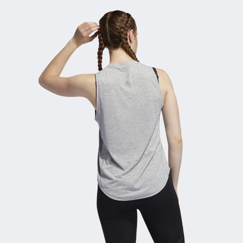 adidas Women's Adapt Tank Grey Heather