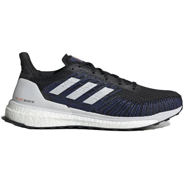 adidas Men's Solar Boost ST 19 Running Shoes Core Black / Dash Grey / Solar Red - achilles heel