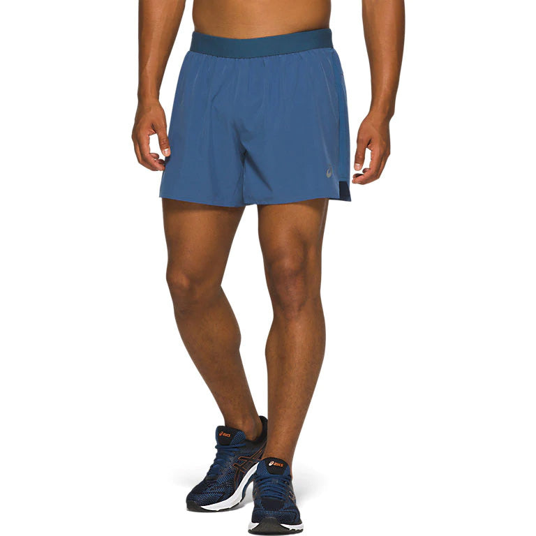 Asics Men's Road 2 In 1 5 Inch Shorts Grand Shark - achilles heel