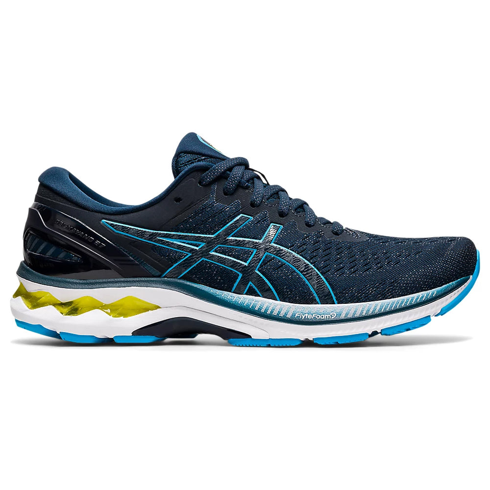 Asics Men's Gel-Kayano 27 Running Shoes French Blue / Digital Aqua - achilles heel