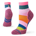 Stance Women's Mix It Up Run Quarter Socks Pink - achilles heel