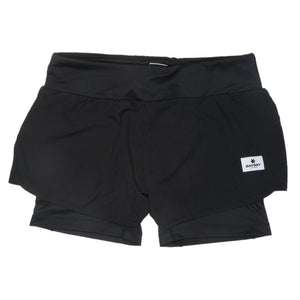 SAYSKY Women's 2 In 1 Shorts Black - achilles heel