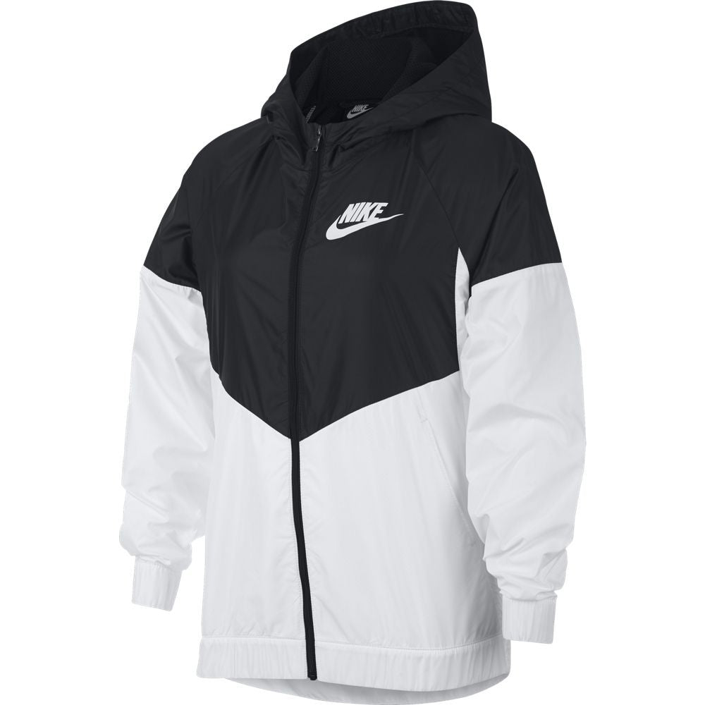 Nike Girls Sportswear Windrunner Jacket Black /  White - achilles heel