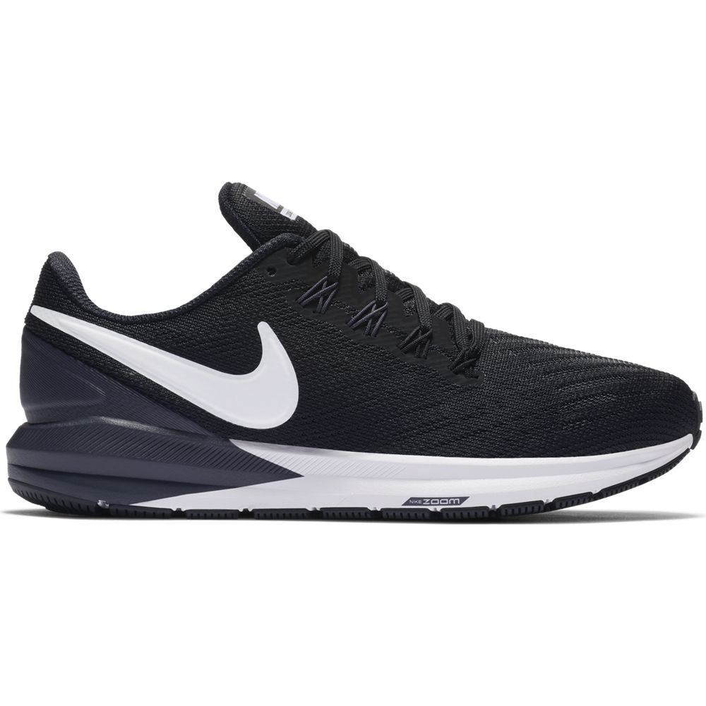 Nike Men's Zoom Structure 22 Running Shoes Black / White / Gridiron