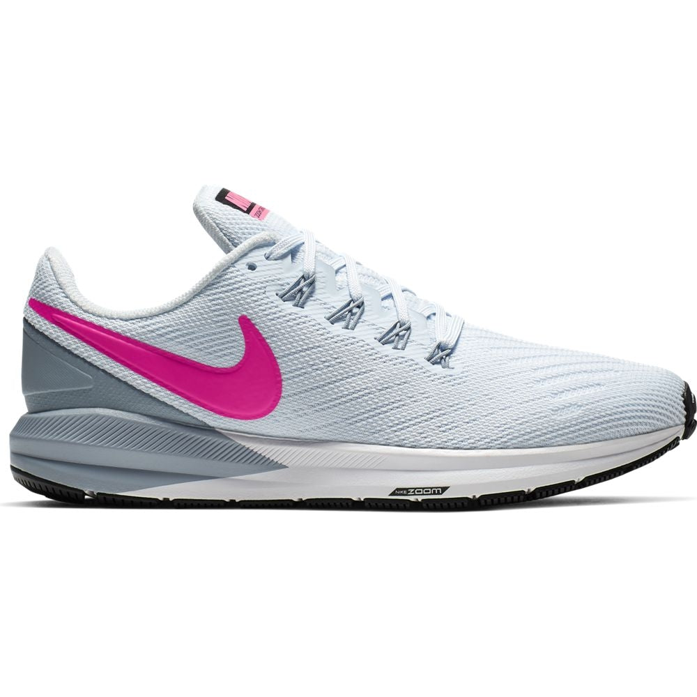 Nike Women's Zoom Structure 22 Running Shoes Half Blue / Hyper Pink