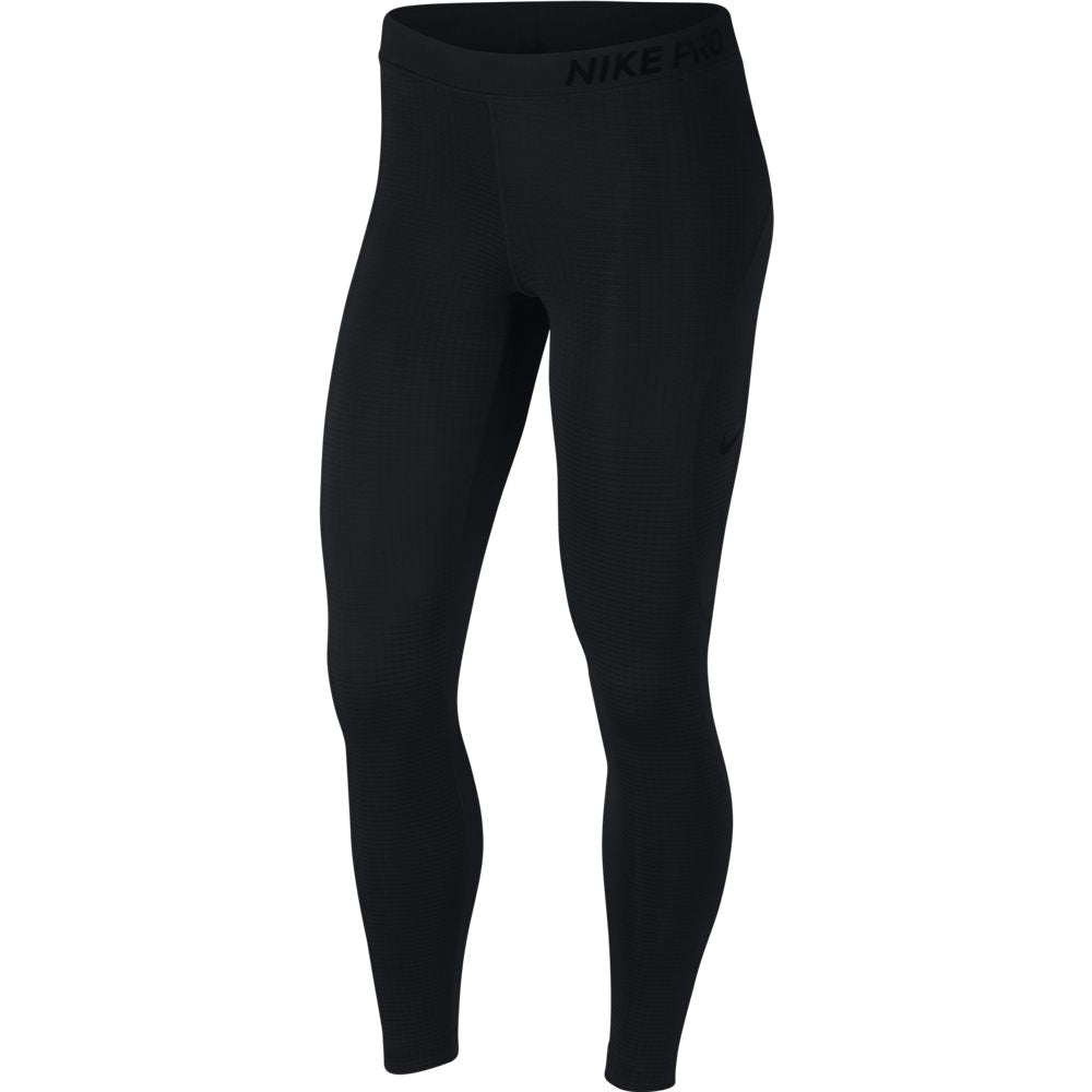 Nike Women's Pro Warm Mesh VNR Tight Black