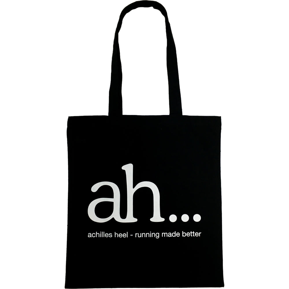 achilles heel Tote Bag Black & White