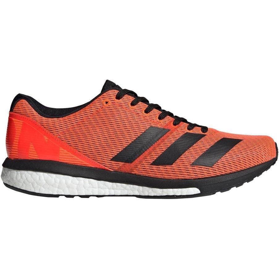 adidas Men's adiZero Boston 8 Running Shoes Solar Red / Core Black / Cloud White