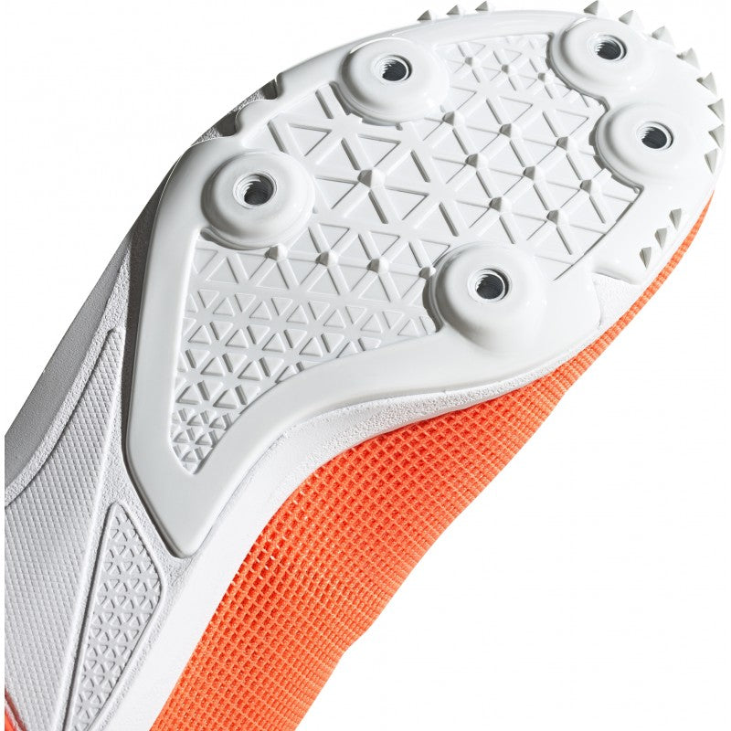adidas Allroundstar J Running Spikes Coral / Silver - achilles heel