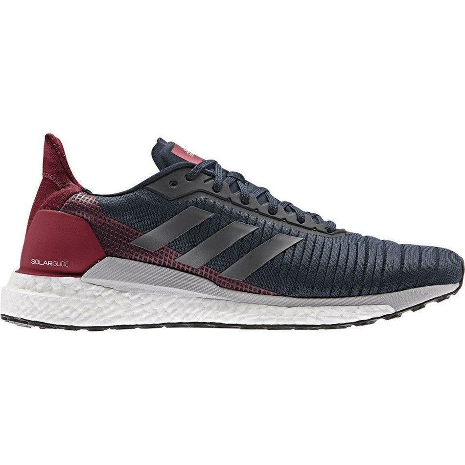 adidas Men's Solar Glide 19 Running Shoes Navy / Grey Five / Active Maroom - achilles heel