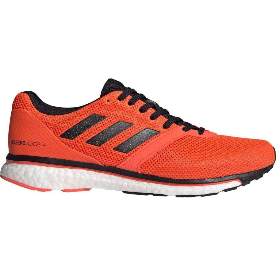 adidas Men's adiZero Adios 4 Running Shoes Orange / Core Black