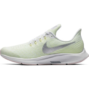 Nike Kids Air Zoom Pegasus 35 Running Shoes White / Metallic Silver - achilles heel
