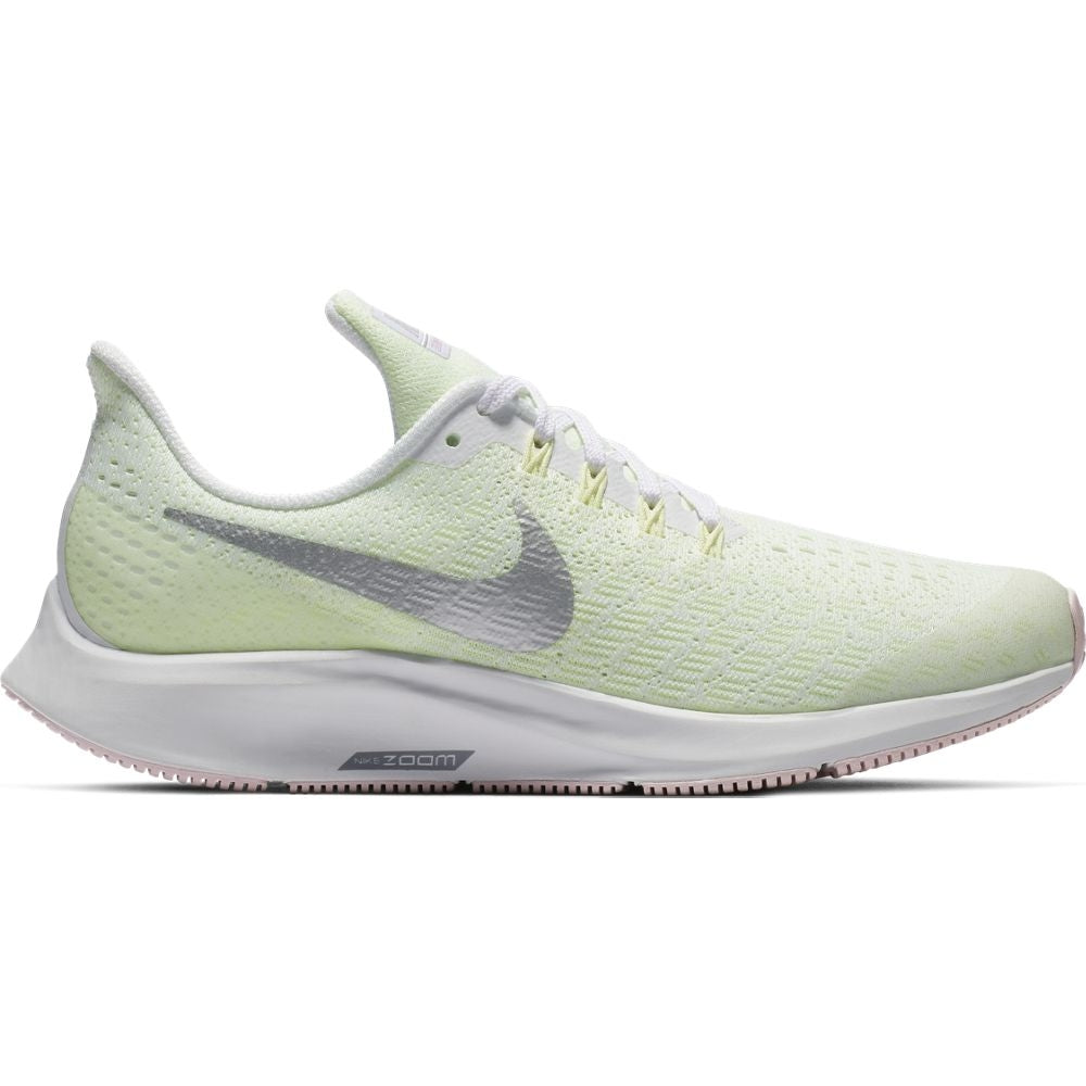 Nike Kids Air Zoom Pegasus 35 Running Shoes White / Metallic Silver