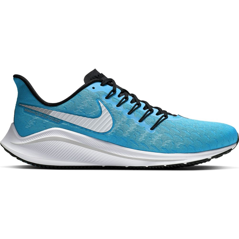 Nike Men's Air Zoom Vomero 14 Running Shoes Blue Lagoon / White / Black - achilles heel