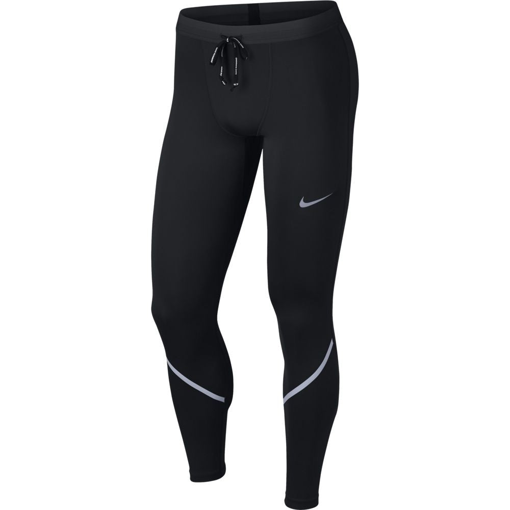 Nike Men's Power Tech Tight Black - achilles heel