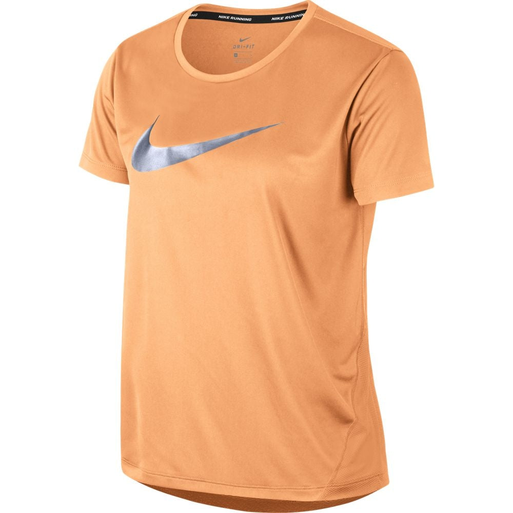 Nike Women's Miler Tee Fuel Orange & Silver SU19 882