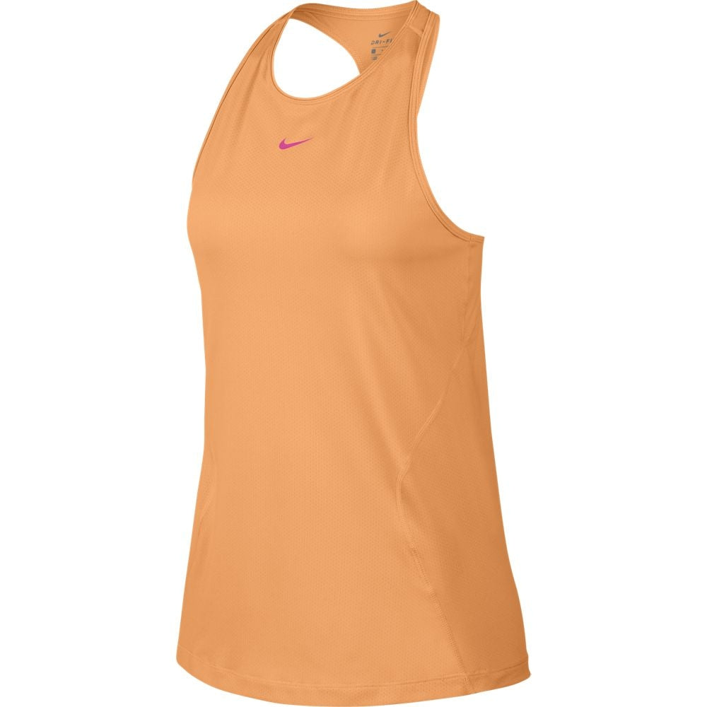 Nike Women's All Over Mesh Tank Fuel Orange & Laser Fuchsia SU19 882