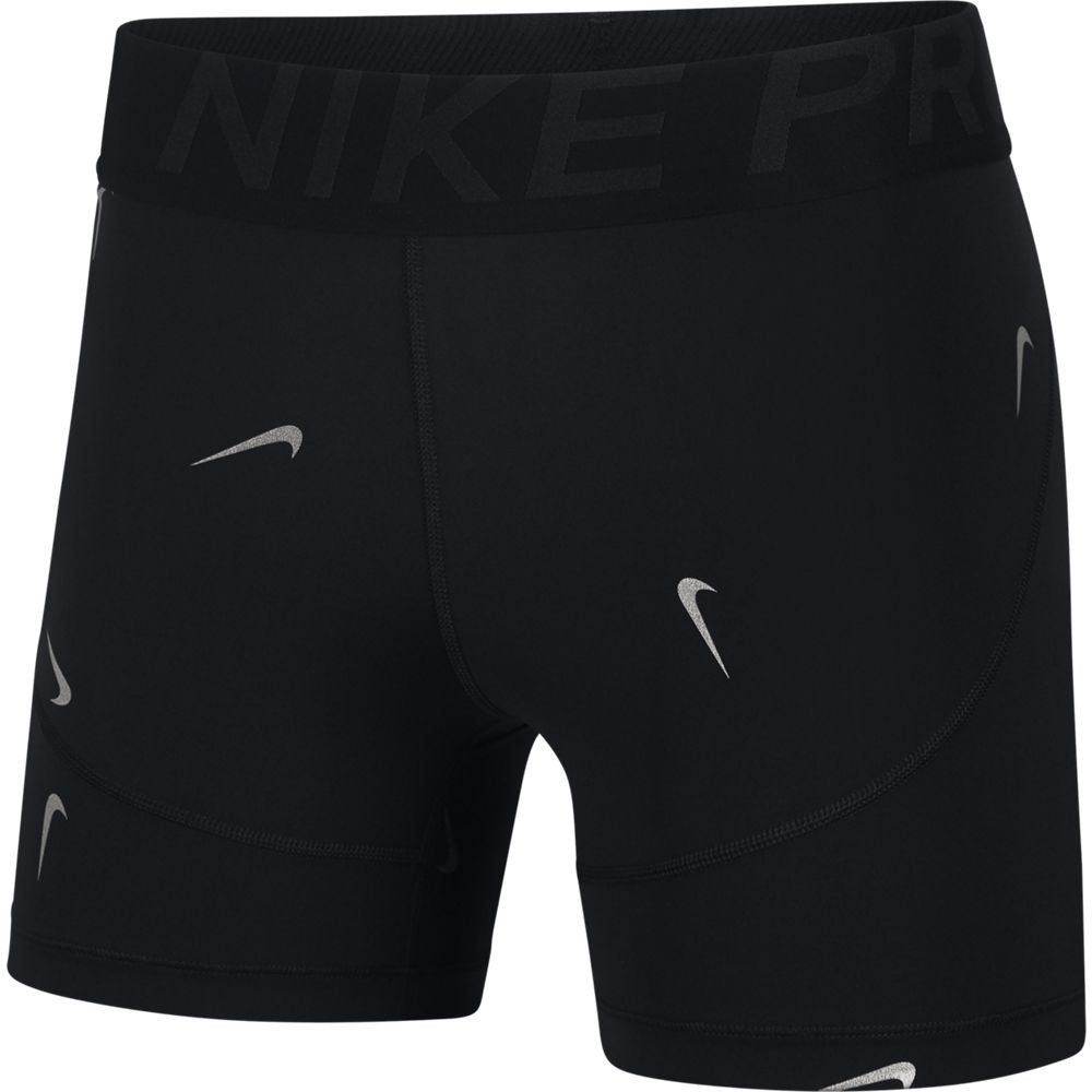Nike Women's Pro 5 Inch Metallic Short Black SP19 010