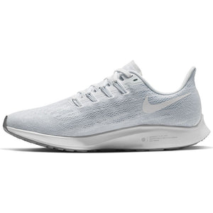 Nike Women's Air Zoom Pegasus 36 Running Shoes White / White / Half Blue - achilles heel
