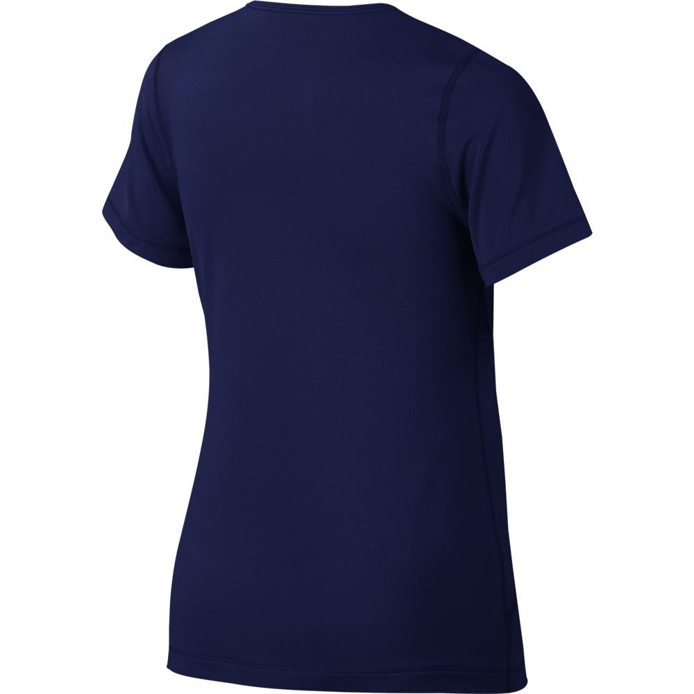 Nike Girls Pro Tee Blue Void / White - achilles heel