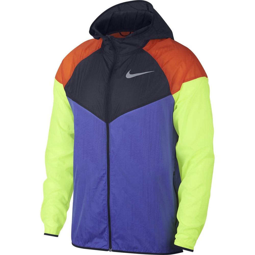 Nike Men's Windrunner Running Jacket Violet, Obsidian & Volt SP19