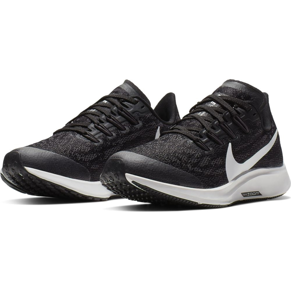 Nike Kids Air Zoom Pegasus 36 Running Shoes Black / White / Thunder Grey - achilles heel