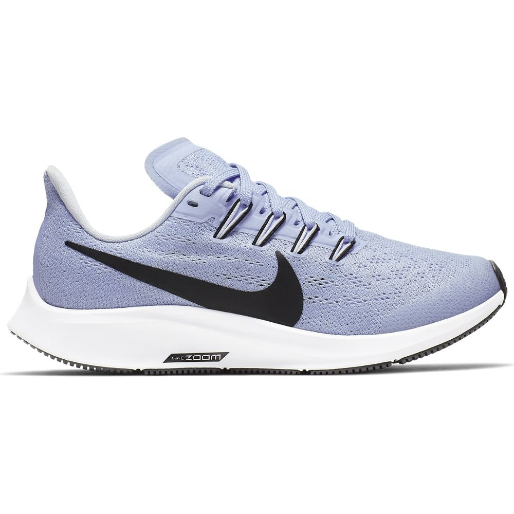 Nike Kids Air Zoom Pegasus 36 Running Shoes Aluminum / Black / Half Blue / White