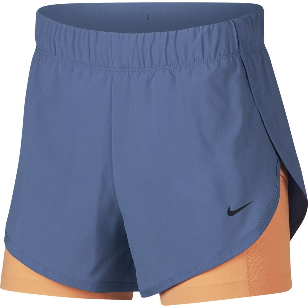 Nike Women's Flex 2 In 1 Short Indigo Storm & Fuel Orange SU19 458