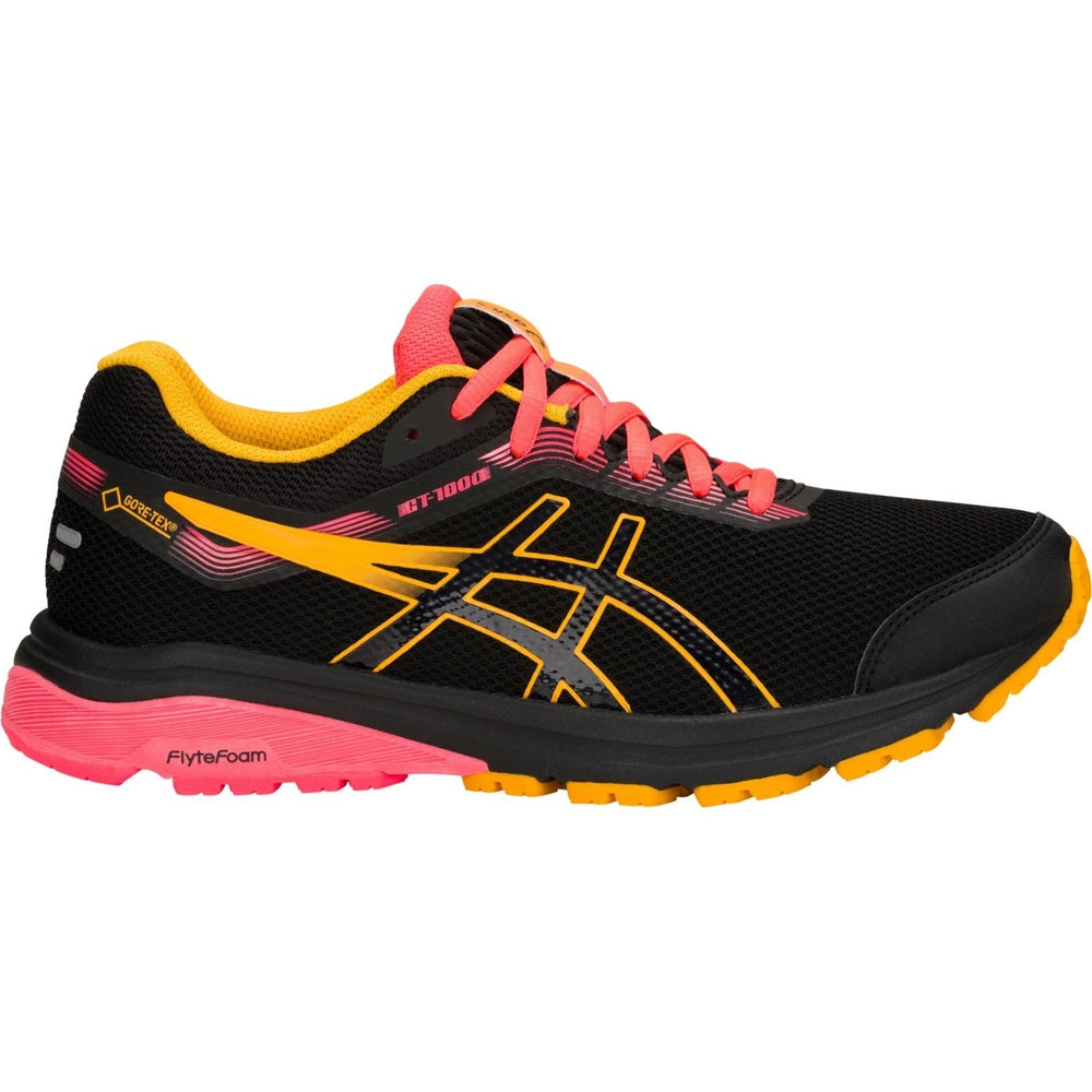 Asics Women's GT 1000 7 GORE-TEX Running Shoes Black /  Amber