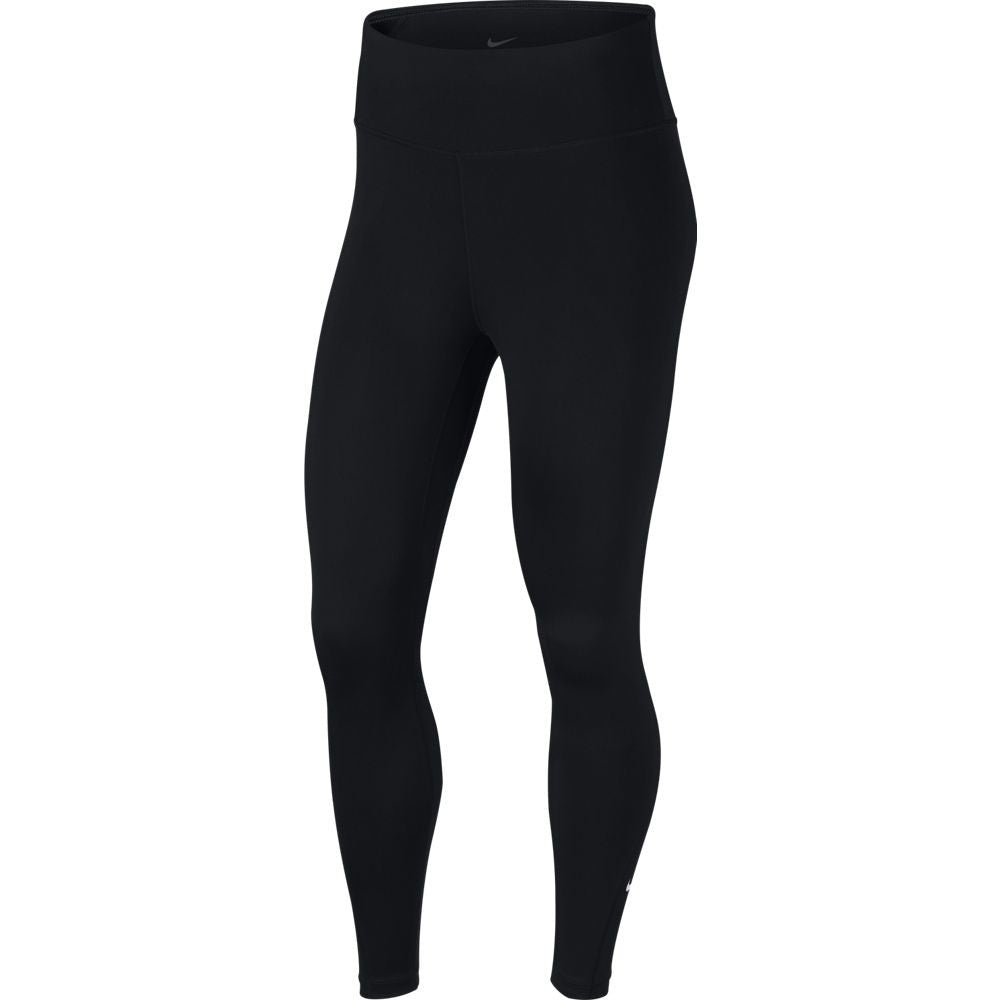 Nike Women's One 7/8 Tight Black - achilles heel