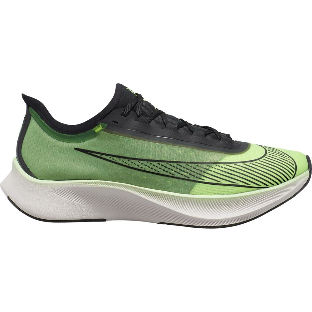 Nike Men's Zoom Fly 3 Running Shoes Electric Green / Black - achilles heel
