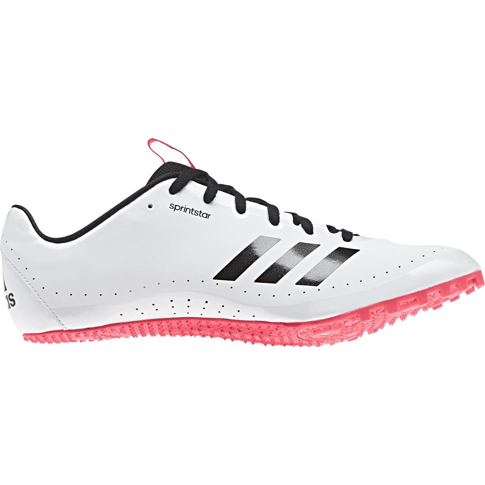 adidas Sprintstar Running Spikes White/  Black /  Red