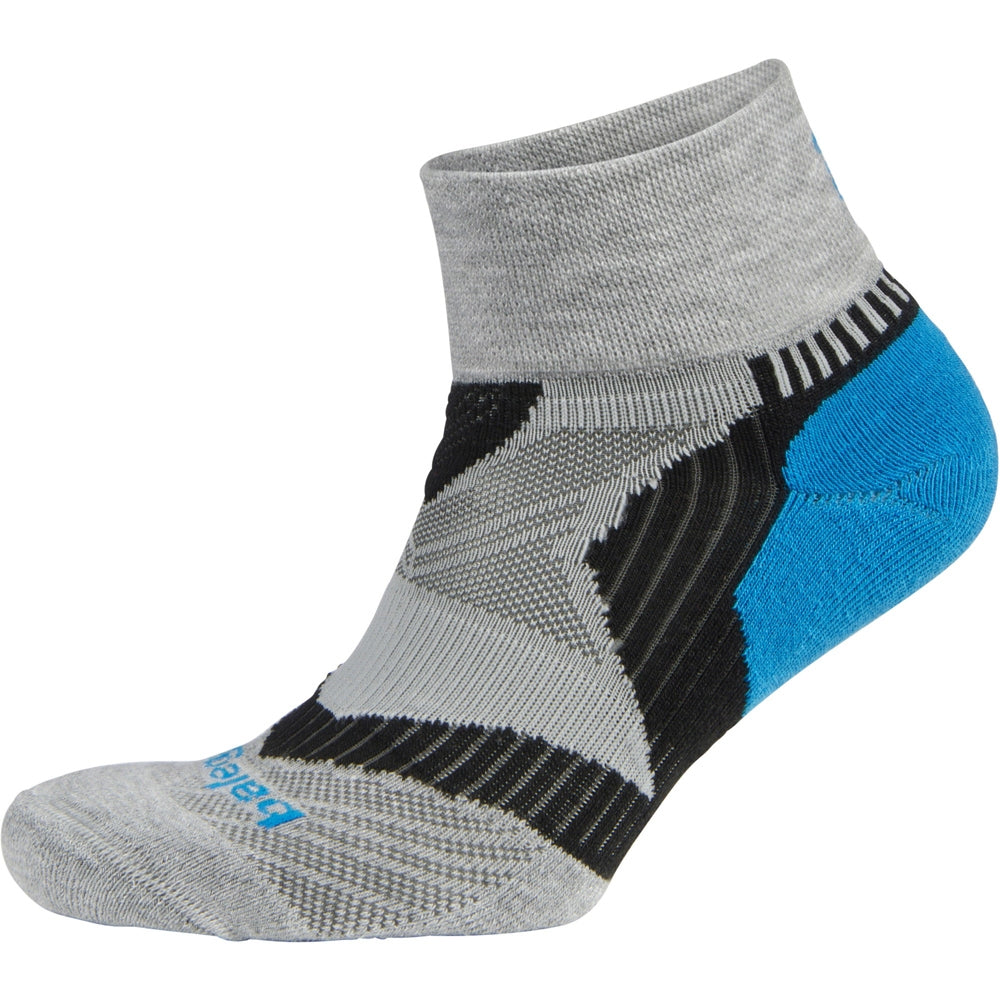 Balega Enduro V-Tech Grey, Turquoise & Black Running Socks