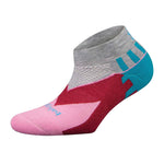 Balega Women's Enduro Low Cut Running Socks Mid Grey / Pink - achilles heel