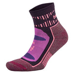 Balega Blister Resist Quarter Running Socks Pink / Wild Berry - achilles heel